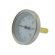 Биметаллический термометр осевой