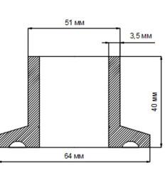 Адаптер под кламп 2 дюйма для тэна DN40