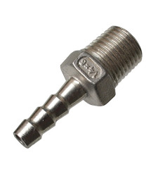 Штуцер под шланг 6 мм 1/4 дюйма (нержавейка)
