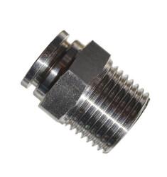 Быстросъемное соединение с наружной резьбой 1/2 под шланг 12 мм (нержавеющая сталь)