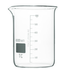Низкий мерный стакан 600 мл