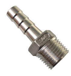 Штуцер под шланг 12 мм 1/2 дюйма (нержавейка)