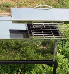 """Коптильня для горячего копчения с крышкой """"Домик"""" (520 х 300 х 310) из нержавеющей стали"""