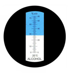 Рефрактометр для спирта 0-80