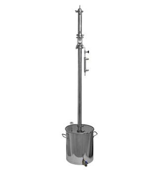 Ректификационная колонна Алкофан Стандарт с кубом 36л с сантехкомплектом (РПН)