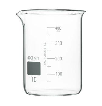Низкий мерный стакан 400 мл