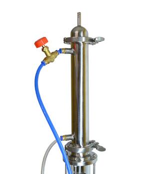 Ректификационная колонна Алкофан Стандарт с кубом 36л с сантехкомплектом (РПН+СПН)