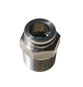 Быстросъемное соединение с наружной резьбой (нержавеющая сталь)