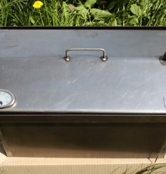 """Коптильня для горячего копчения с крышкой """"Домик"""" (520 х 300 х 310) с термометром"""