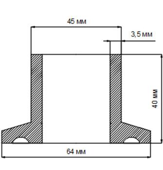 Адаптер под кламп 2 дюйма для тэна DN32