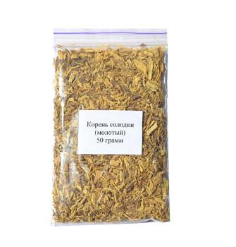Корень солодки (молотый) 50 грамм