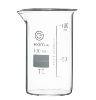 Высокий мерный стакан 100 мл