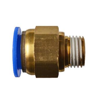Быстросъемное соединение с наружной резьбой 1/4 под шланг 12 мм