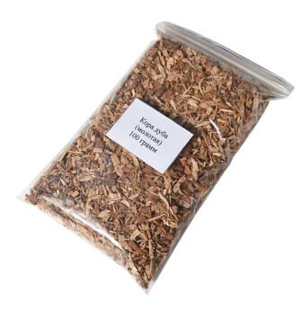 Кора дуба (молотая) 100 грамм