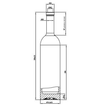 Бутылка Белуга 0,7 л (Премиум)
